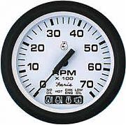 Faria Euro White Tach/Sys Check 7000 RPM