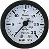 Faria Euro White Water Press Gauge Kit 30 PSI