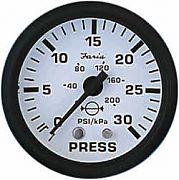 Faria Euro White Water Press Gauge Kit 30 PSI