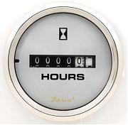 Faria Kronos Hourmeter, 10,000 Hrs 12-32 Vdc