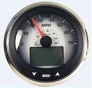 "Faria MGS010 4"" Black Fade Speedometer 70 MPH Depth Sounder MG3000"