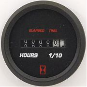 Faria Professional Red Hourmeter, 10,000 hrs 12-32 vDC