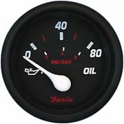 Faria Professional Red Oil Press Gauge, 80 PSI