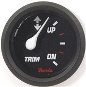 Faria Professional Red Trim Gauge, Mercury, Mariner, Mercruiser, Volvo DP, & Yamaha ´01 & newer
