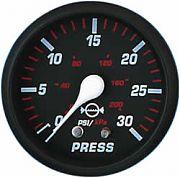 Faria Professional Red Water Press Gauge Kit 30 PSI