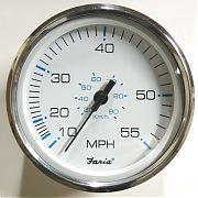 "Faria SE9504 5"" Speedo 55 MPH Chesapeake White SS"