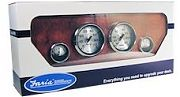 Faria Spun Silver 4 Gauge Boxed Set for Outboard´s