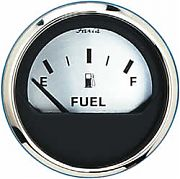 Faria Spun Silver Fuel Level Gauge  E-1/2/f