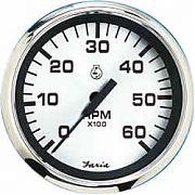 Faria Spun Silver Tach 6000 Gas Inboard & I/O Engines