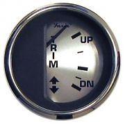 Faria Spun Silver Trim Gauge, Mercury, Mariner, Mercruiser, Volvo Dp, & Yamaha ´01 & Newer