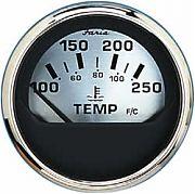 Faria Spun Silver Water Temp Gauge 100°-250°f
