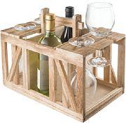 Fleming Sales 22109 Wood Wine Caddy