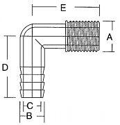Forespar 901007 3/4 3/4 Female Elbow Hecf 1