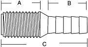 Forespar 905011 2 Hose Adaptor CF252