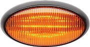 FulTyme RV 1172 LED Porch Oval Blk Base Amber
