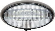 FulTyme RV 1173 LED Porch Oval Blk Base Clear