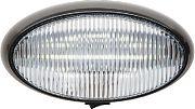 FulTyme RV 1173 LED Porch Oval Blk Base Clear