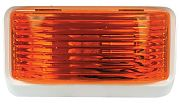 FulTyme RV 590-1115 Porch Ligt Sq with O Swtch Amber
