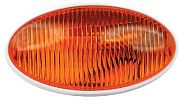FulTyme RV 590-1119 Porch Lght Ovl with O Swtch Amber