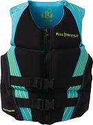 Full Throttle Hinged Flex Vest Aqua/Baclk X SM