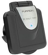 Furrion F30INS-BS 30 Amp Black Inlet with LED