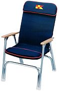 Garelick 35029 Navy Padded Folding Deck Chair