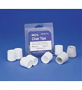 "Garelick 76010 1"" White Poly Chair Tips 4/PK"