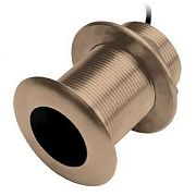 Garmin 010-10217-22 Bronze Thru-Hull Mount Transducer with Depth & Temperature (20? tilt)