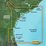 Garmin VUS008R Charleston To Jacksonville Bluechart G2