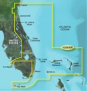 Garmin VUS009R Jacksonville To Key West Bluechart G2 Vision
