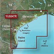 Garmin YUS047R Bluechart G2 HI-RES Satellite Texas Gulf