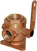 """Groco BV2500 2-1/2"""" Full-Flow Flanged Ball Type Seacock"""