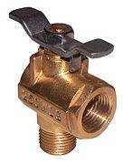 "Groco FV590 1/2"" FV 590 Series 90 Degree Brass Fuel Valve"