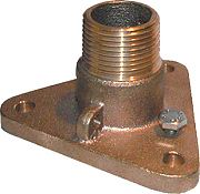 "Groco IBVF750 3/4"" Nps To Npt Bronze Adaptor"