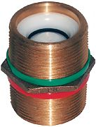"Groco PNC-1500 1 1/2"" Bronze Check Nipple"