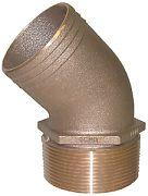 "Groco PTHD-1000 Brz Pipe/Hose 45 1"""