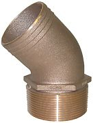 Groco PTHD-2500 Brz Pipe/Hose 45 2 1/2""