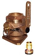 """Groco SBV2000P 2"""" Full-Flow Flanged Safety Seacock"""
