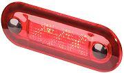 Hella 959510701 Oblong LED Rectangular Courtesy Lamp - Red