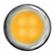 Hella 980500021 Stainless Bezel Slim Line Round LED Courtesy Light - White