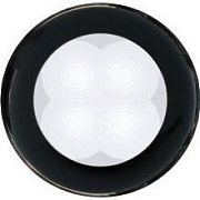 Hella 980500051 Black Bezel Slim Line Round LED Courtesy Light - White