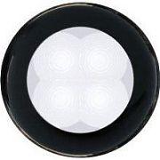 Hella 980500051 Black Bezel Slim Line Round LED Courtesy Light - White