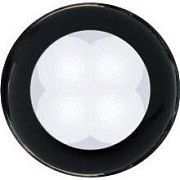 Hella 980500451 Black Bezel Slim Line Round LED Courtesy Lamp - White