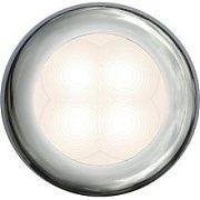 Hella 980502271 Chrome Bezel Slim Line Round LED Courtesy Lamp - Blue