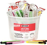 Hyde 49696 Pail of Utility Knives 50/Pail