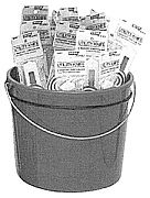 Hyde 49697 Pail of Utility Knives 25/Pail