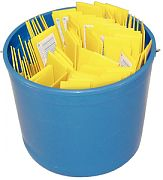 Hyde S49713 Pail of Plastic Putty Knives 100/Pail