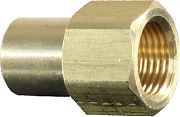 """JR Products 07-30225 3/8"""" Fem Flare To 1/4""""MPT Connector"""