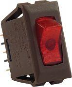 JR Products 12535 Illuminatd 12 Volt On/Off Sw Rd/Br
