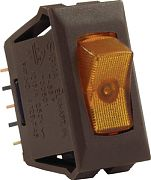 JR Products 12545 Illmntd 12 Volt On/Off Sw Amber/Br